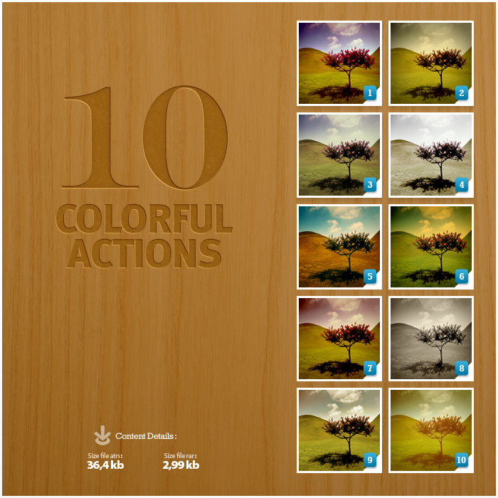 10 Colorful Photoshop Actions