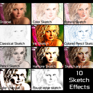 10 Sketch Actions for Photoshop
