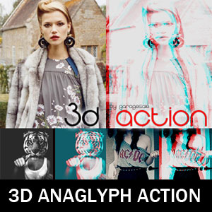3D Anaglyph Action for Photoshop