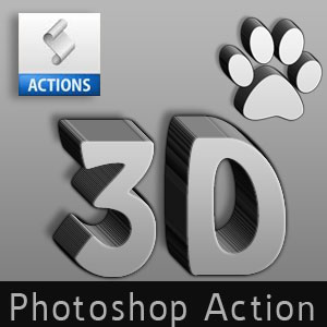 3D Photoshop Action Generator for Text and Shape