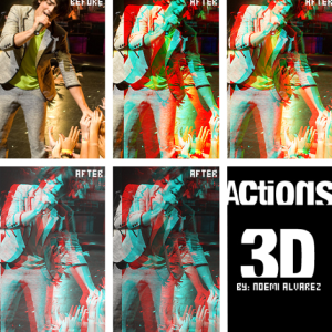 3D Anaglyph Photo Effect Photoshop Action