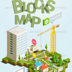 3D Blocks Map Photoshop Creator