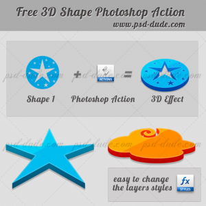 3D Photoshop Action Free Download (3D-Effects) | Actions for Photoshop