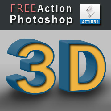 3D Photoshop Action Free Download