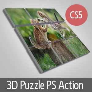 3D Puzzle Photo Action (3D-Effects) | Actions for Photoshop