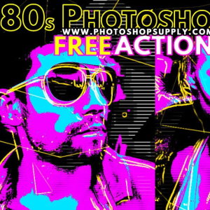 80s Poster Photoshop Action