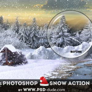 Add Snowing Effect Photoshop Action