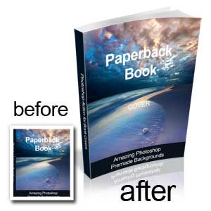Free Photoshop Action for Book Cover
