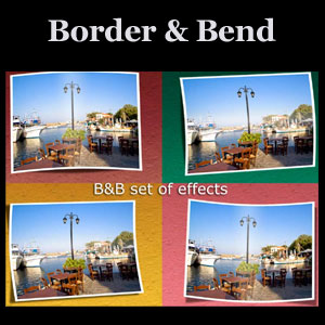 Border and Bend Photoshop Actions