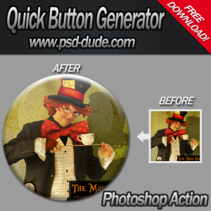 Button Generator with Photoshop Action