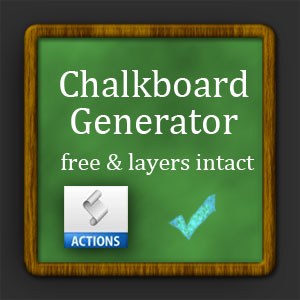 Chalkboard Generator Photoshop Action (Frames-And-Borders) | Actions
