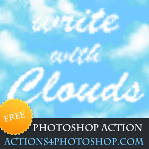 Clouds Photoshop Free Action