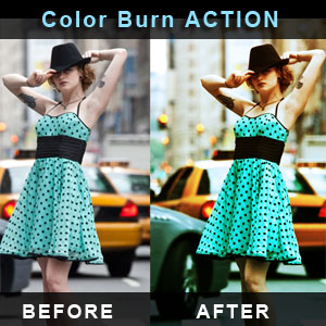 Color Burn Photoshop Action