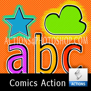 Comics Text Action