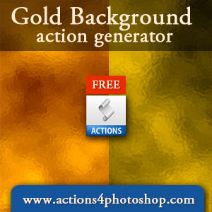 Gold Background Action Generator
