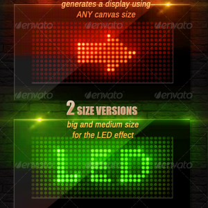 LED Sign Photoshop Action