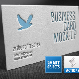 Letterpress Business Card Photoshop Action