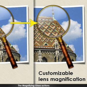 Magnifying Glass Photoshop Action