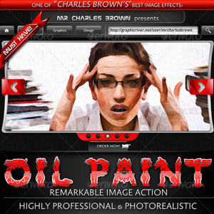 Oil Painting Photoshop Action Premium