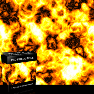 Photoshop Fire Background Action