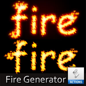 Fire Text Photoshop Action