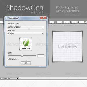 Photoshop Shadow Action Generator
