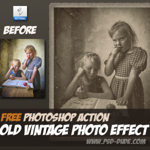 Retro Photo Effect Photoshop Free Action