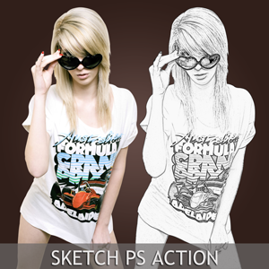 Pencil Sketch Photoshop Action (Special-Effects-And-Textures