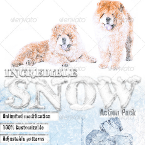 Snow Effect and Winter Photoshop Action Kit