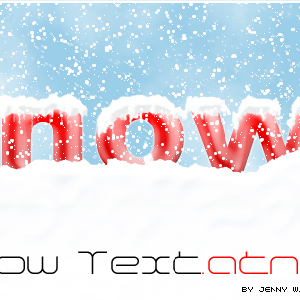 Snow Text Photoshop Action