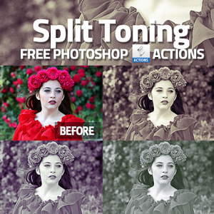 Split Toning Photoshop Action Free