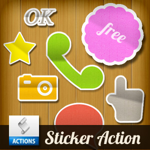 Sticker Photoshop Action