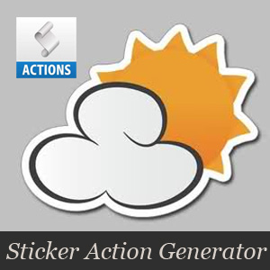 Sticker Photoshop Action Generator
