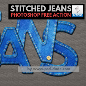 Stitched Jeans Photoshop Free Action