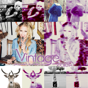 Vintage Violet 3D Photo Effect Action