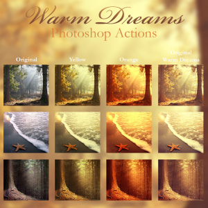 Warm Color Photoshop Actions